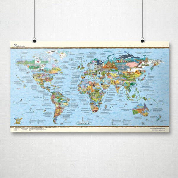 Bucketlistmap Scratch World Map by Awesome Maps