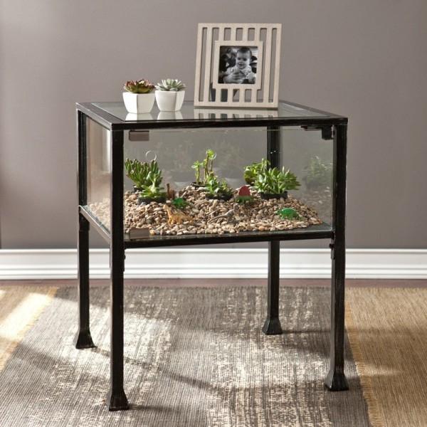 Terrarium Display End Table