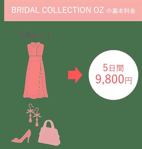 BRIDAL COLLECTION OZ の基本料金