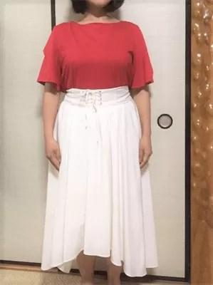 mimiさんがエアクローゼットでレンタルした洋服の着画像
