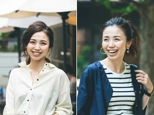 玉村麻衣子さんのママコーデ2パターン