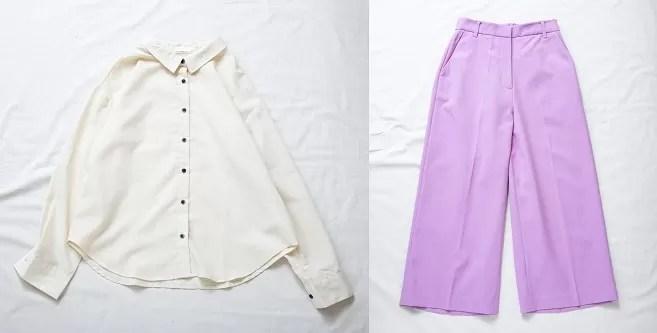玉村麻衣子さんがセレクトしたメチャカリのシャツとパンツ