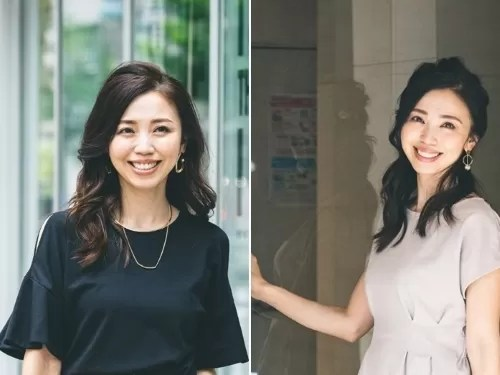 玉村麻衣子さんのオフィスカジュアル2パターン
