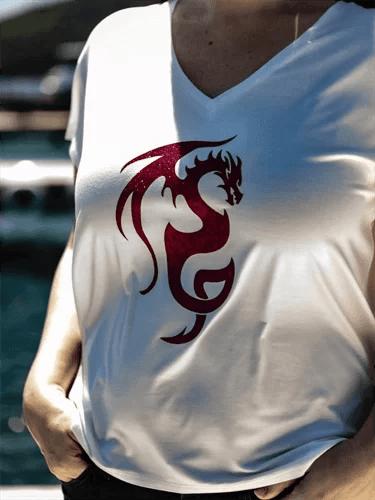 Vネック_白Tシャツ