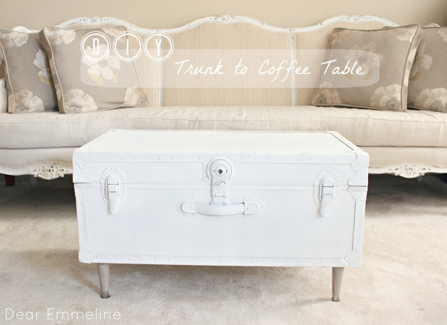 diy trunk to coffee table