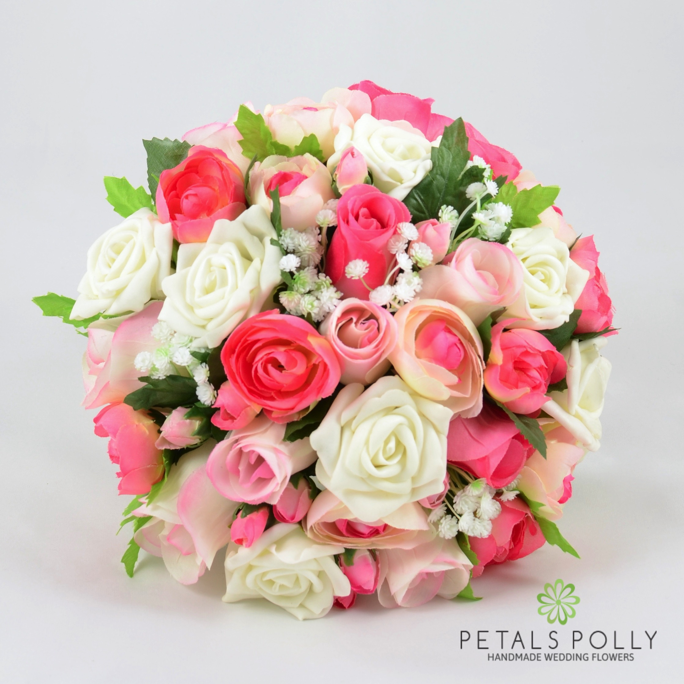 Pink Ivory Rose Brides Posy With Ranunculus