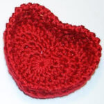 Free Valentine's Day Crochet Patterns - Hugs and Kisses Heart Basket Crochet Pattern