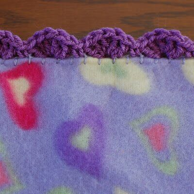 Quick And Easy Crocheted Blanket Edging Patterns Petals To Picots