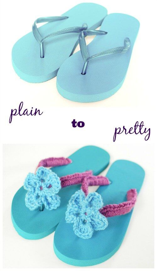 This tutorial will guide you through transforming those plain inexpensive flip flops into a custom pair that is as unique and fabulous as you! This is a super quick project and you'll be wearing your new flip flops in no time at all. #petalstopicots