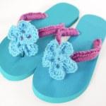 Crochet Flip Flops Tutorial with Flower Pattern