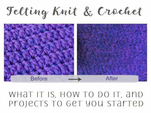 Felting Knitting & Crochet: What Is Felting? How To Felt? | www.petalstopicots.com