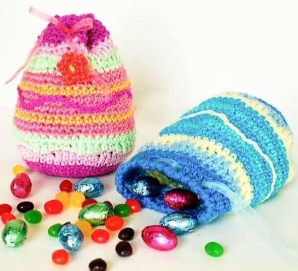 Easter Egg Treat Bag Pattern