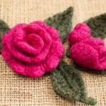Crochet Rose and Rosebud Patterns