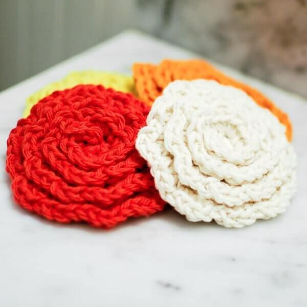 Crochet Flower Cleansing Pads Pattern