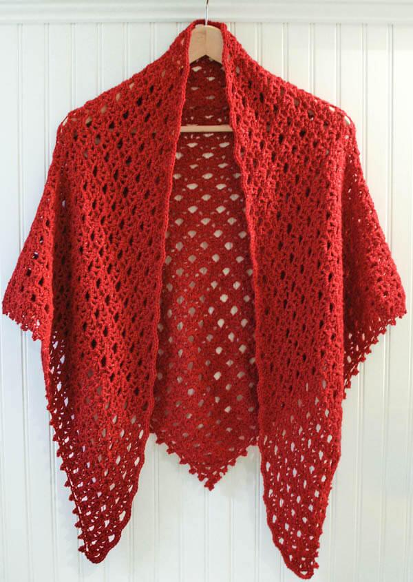 Easy Lace Shawl Pattern Free