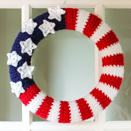 American Flag Wreath Crochet Pattern Petals To Picots