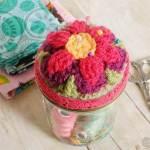Jar Crochet Pin Cushion