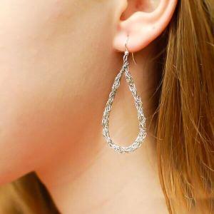 Crochet Teardrop Wire Earrings