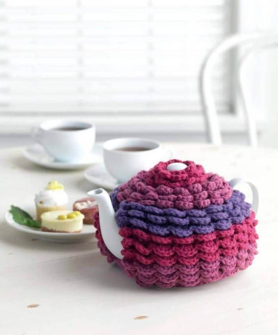 Crochet at Home - Tiered Tea Cozy beauty shot