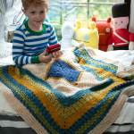 Lion Brand Little Boy Blue Blanket Crochet Pattern