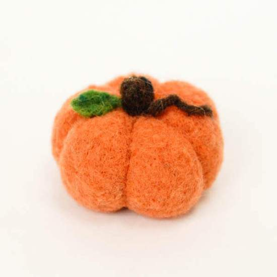 Pumpkin Needle Felting Project