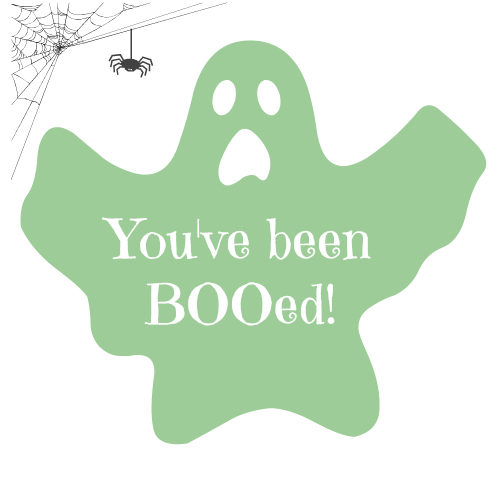You've been BOOed! Free ghosting printable