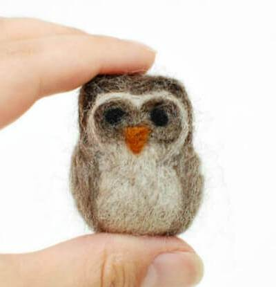 How to Make a Needle Felted Owl {Photo Tutorial}