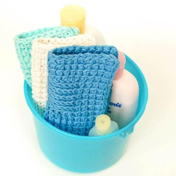 Sampler Washcloth Tunisian Crochet Pattern | www.petalstopicots.com