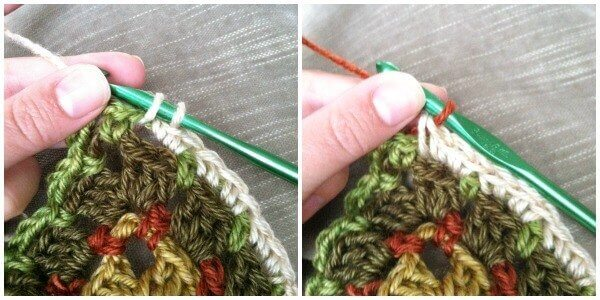 How to Seamlessly Change Colors in Crochet - Step 1 | www.petalstopicots.com