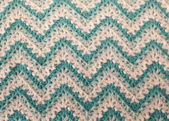 gentle ripple baby blanket and hat crochet pattern