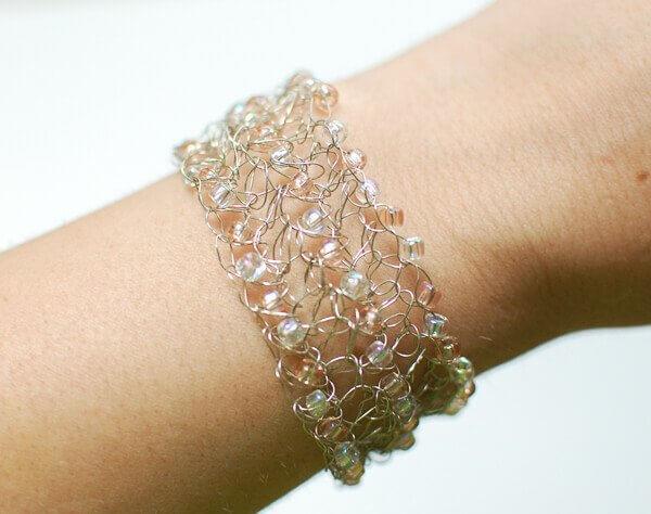 Wire Crochet Cuff Bracelet Instructions Data Wiring