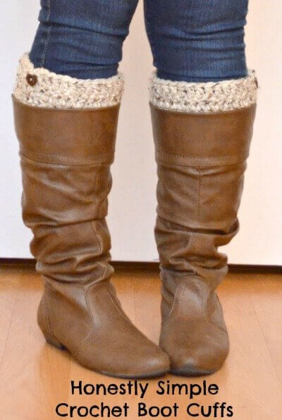 Honestly Simple Crochet Boot Cuffs