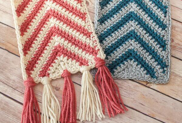 Chevron Ripple Scarf Crochet Pattern Petals To Picots