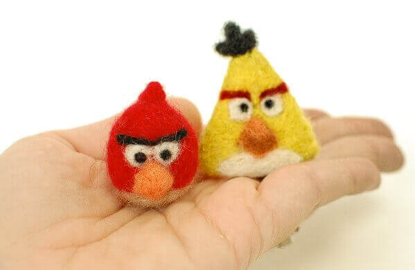 How to make needle felted angry birds