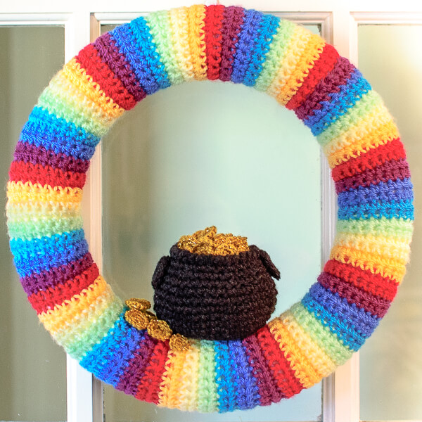 St. Patrick's Day Pot of Gold Wreath Crochet Pattern