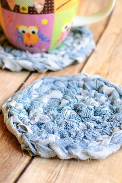 Fabric Crochet Coaster Pattern … Awesome Upcycles