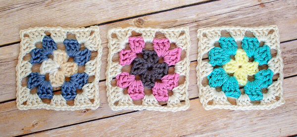 left handed granny square instructions
