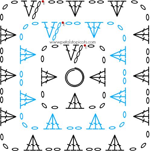Crochet Granny Square Pattern   Petals to Picots