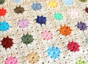 Cluster Burst Granny Square pattern