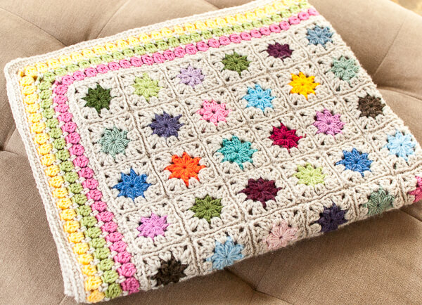 Cluster Burst Afghan Crochet Pattern Petals To Picots