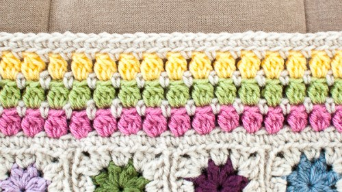 cluster burst afghan crochet border pattern (4 of 6)