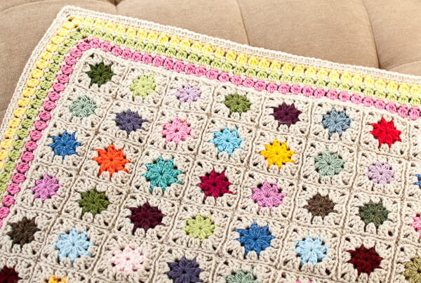 cluster burst afghan crochet border pattern (5 of 6)