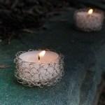 Wire Crochet Tealight Holder Pattern
