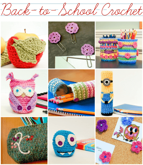 Free Back-to-School Crochet Patterns | www.petalstopicots.com