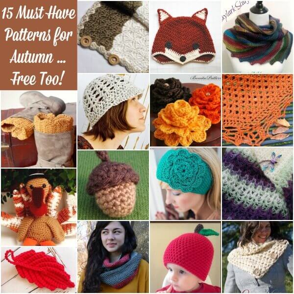 15 Must Have Patterns for Autumn ... And Free Too! www.petalstopicots.com #crochet #Autumn #Fall #patterns