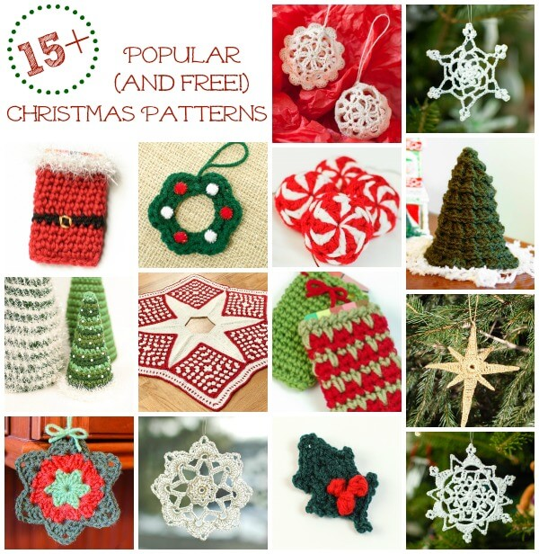 Free Christmas Crochet Patterns Petals To Picots