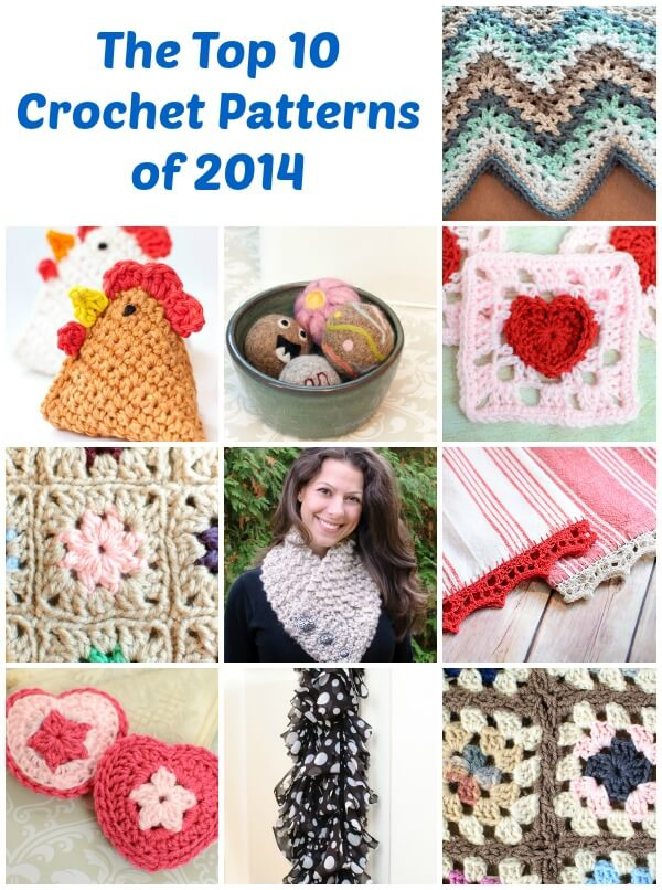 Top 10 crochet patterns of 2014 | www.petalstopicots.com | #crochet #patterns
