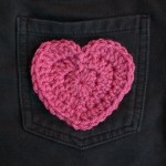 Crochet Heart Applique Pattern … Perfect for Valentine's Day!