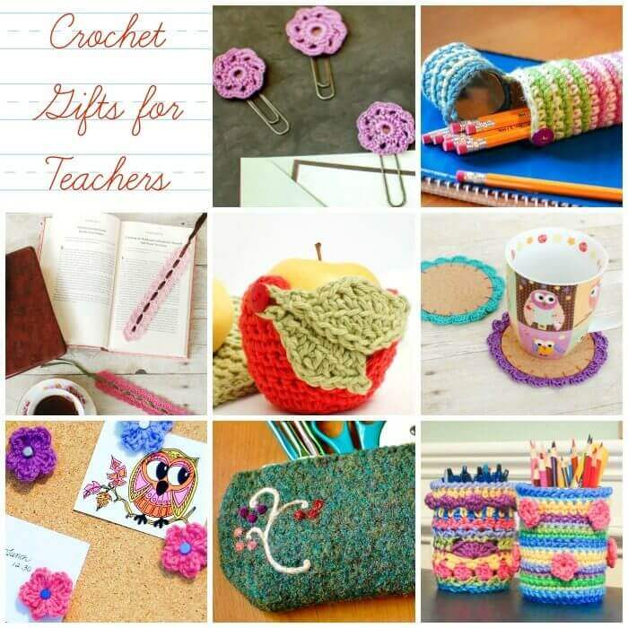 Teacher Appreciation Gifts ... Crochet Gifts for Teachers | www.petalstopicots.com | #crochet #teacher #patterns