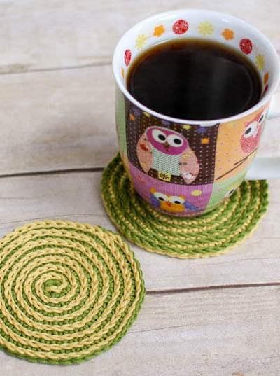 Summer Spiral Crochet Coasters Pattern